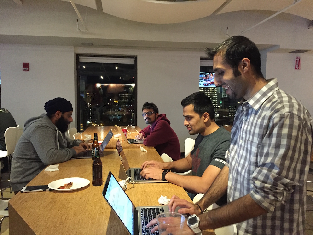 More Audible employees coding as a team
