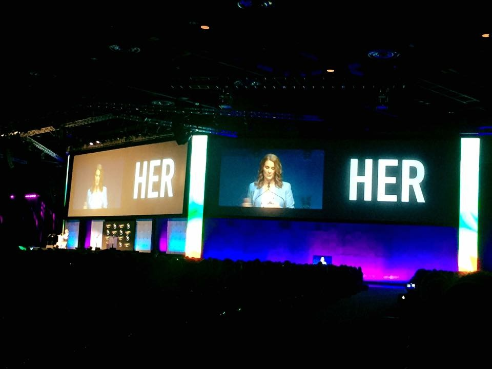 Photo of Key Note speech from Grace Hopper Conference
