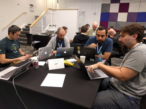 Audible employees participating in the Google Mobile Performance Hackathon